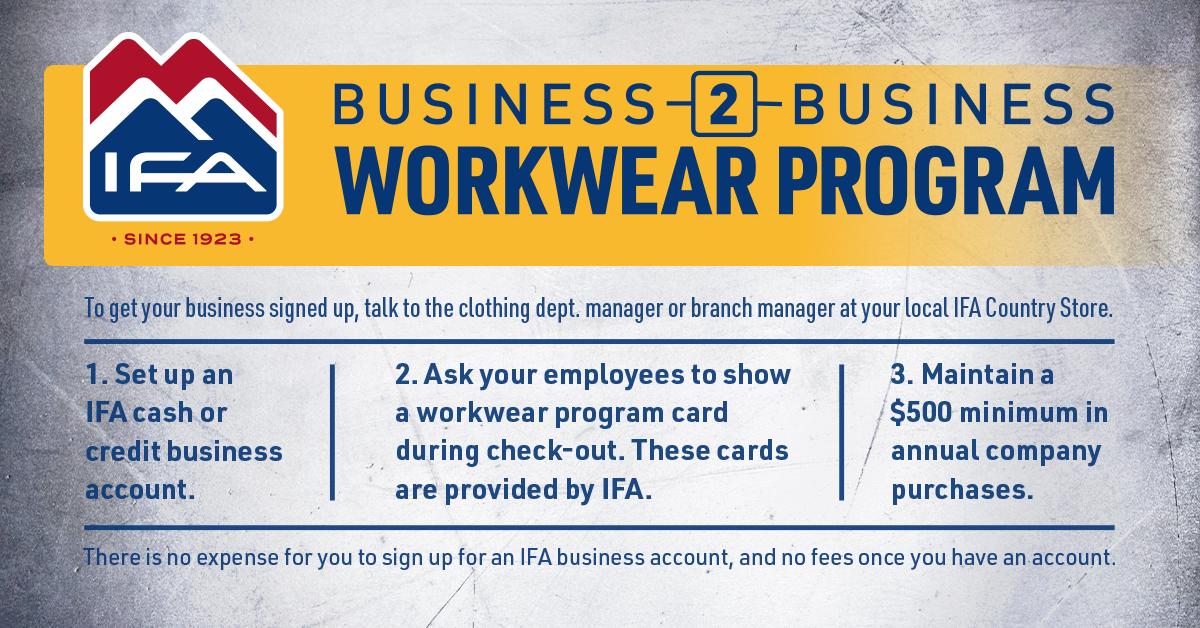 business to business workwear program details