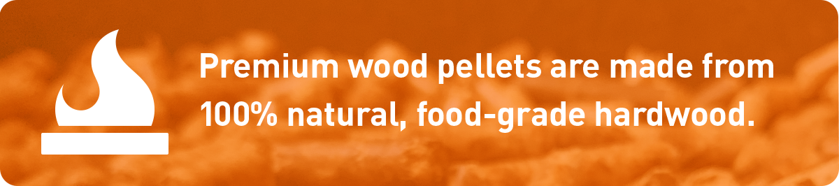 premium wood pellets are made from 100% natural, food-grade hardwood