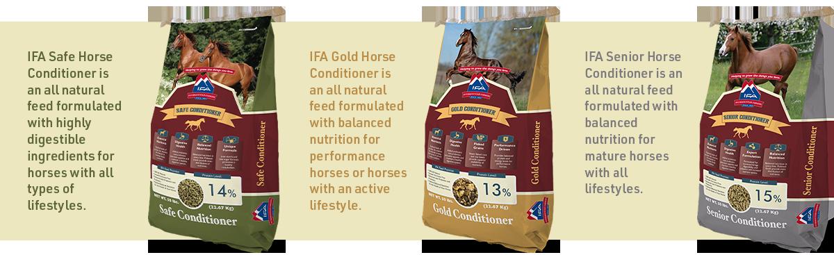 IFA's line of premium horse feed