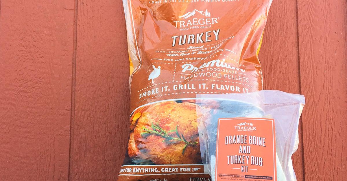 Traeger's Turkey Pellet Blend of wood smoker pellets